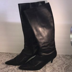 Colin Stuart Black Leather Heeled 7.5 Boots